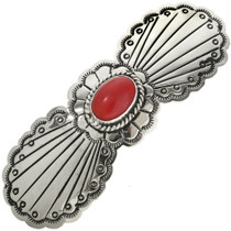 Red Mountain Jade Silver Hair Barrette 29349