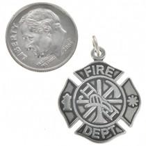 Sterling Silver Fire Department Charm Bracelet Charm Pendant Necklace