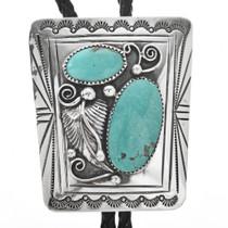 Native American Turquoise Bolo Tie 24888
