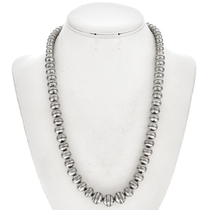Silver Desert Pearl Necklace Graduating Beads 0126