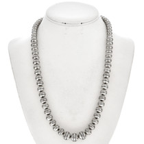 Silver Desert Pearl Necklace Graduating Beads 29712