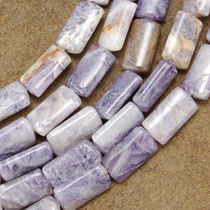 8mm by 16mm Charoite Beads 16 inch Strand