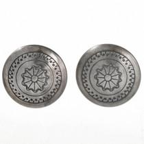 Native American Sterling Concho Earrings 20744