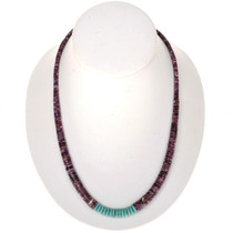 Purple Spiny Heishi Turquoise Necklace 24780