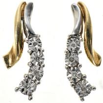 Yellow Gold Diamond Post Earrings