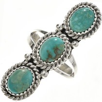 Green Turquoise Ladies Ring