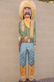 6 Foot Cigar Store Blue Eyed Mexican by Frank Gallagher