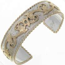 Silver Gold Western Bracelet 18347