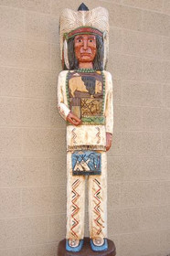Cigar Store Indian Chief Carved Wood by Frank Gallagher 6 Foot