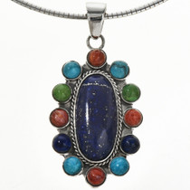 Navajo Gemstone Sterling Necklace Set 29180