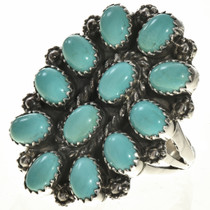 Turquoise Cluster Silver Ring