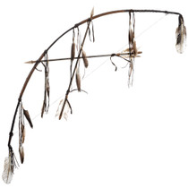 Indian Bow Crossed Arrows Wall Display