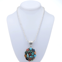 Navajo Multi Gemstone Pendant 24710