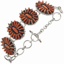 Spiny Oyster Tennis Link Bracelet 10939