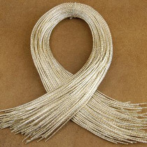 Bolo Tie Cord Silver Gold Vinyl Four-Ply Bolo Cord Wholesale Indian Jewelry Supply 0120