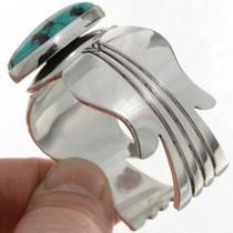 Hammered Silver Turquoise Bracelet 26369