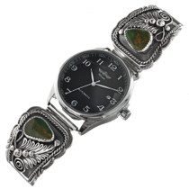 Old Emerald Valley Turquoise Silver Watch 0016