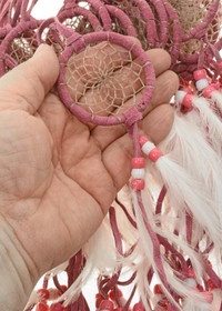 Pink White Feathers Dreamcatcher 27300