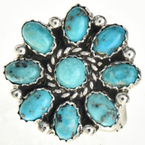Turquoise Cluster Ladies Ring