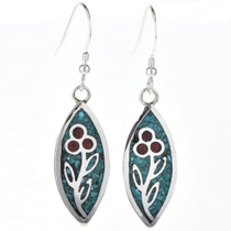 Turquoise Coral Earrings 29090