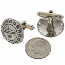 Navajo Hammered Silver Cuff Links 19620