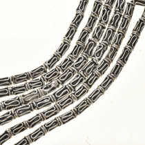 3mm x 8mm Silver Findings Round Wire Spacer Bali Beads 8-1/2 inch Long Strand 0305