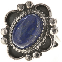 Blue Lapis Gem Silver Ring