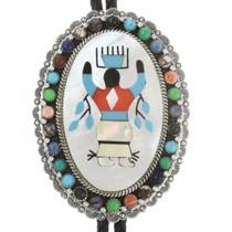 Apache Crown Dancer Silver Gemstone Bolo Tie 17179