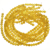8mm Yellow Cracked Glass Beads 16 inch Strand