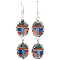 Inlaid Turquoise Gemstone Earrings 29067