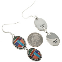 Navajo Stone Shell French Hook Earrings 29067