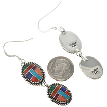 Navajo Stone Shell French Hook Earrings 29067