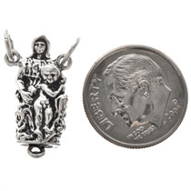 Sterling Silver Madonna & Child Rosary Charm Pendant