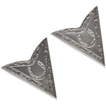 Silver Cowboy Collar Tips 13896