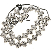 12mm x 14mm Silver Findings Filigree Bali Beads 8 inch Long Strand 0131