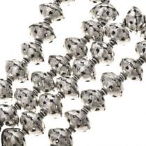 12mm x 14mm Silver Findings Filigree Bali Beads 8 inch Long Strand 0131