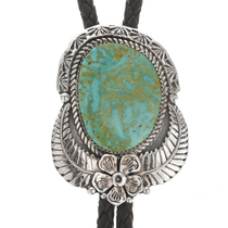 Number 8 Turquoise Navajo Bolo Tie 29027