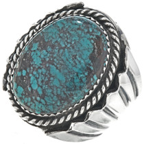 Spiderweb Turquoise Mens Ring