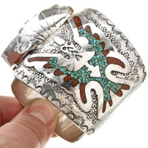 Thunderbird Turquoise Coral Watch Cuff 28298