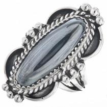 Navajo Hematite Silver Ladies Ring 29642