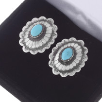 Native American Silver Concho Cuff Links