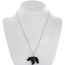 Jet Bear Fetish Pendant and Prayer Bundle 28334