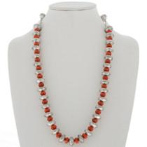Mercury Dime Coral Necklace 27781