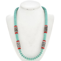Turquoise Beaded Southwest Necklace 29695