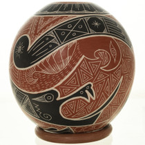 Etched Olla Pottery