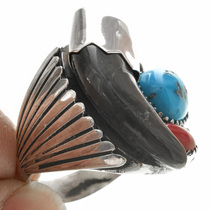 Real Bear Claw Turquoise Mens Ring 22970