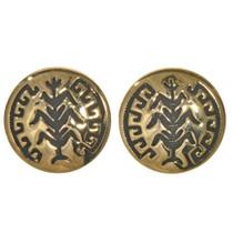 Gold Hopi Cornstalk Post Earrings 2796