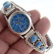 Native American Lapis Watch Bracelet 23005