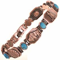 Copper Turquoise Tennis Bracelet 28741