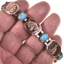 Turquoise Copper Tennis Bracelet 28741